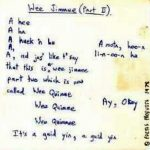 Wee Jimmee Lyrics 1976