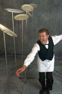 Saucers Spinning on Bendy Sticks